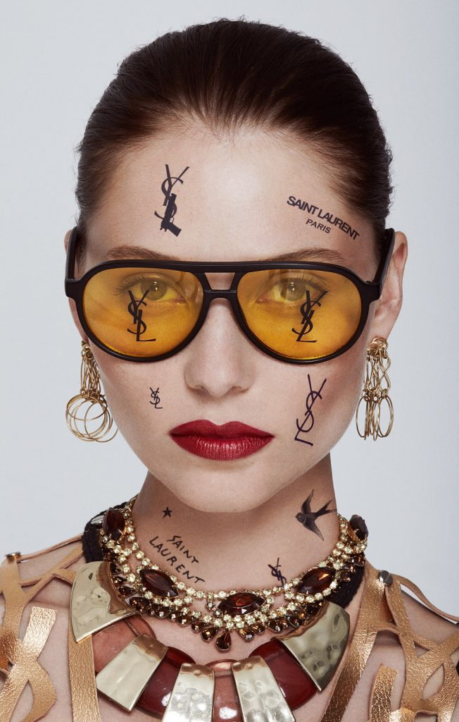 tattoos-all-over-face-ysl-saint-laurent-designer