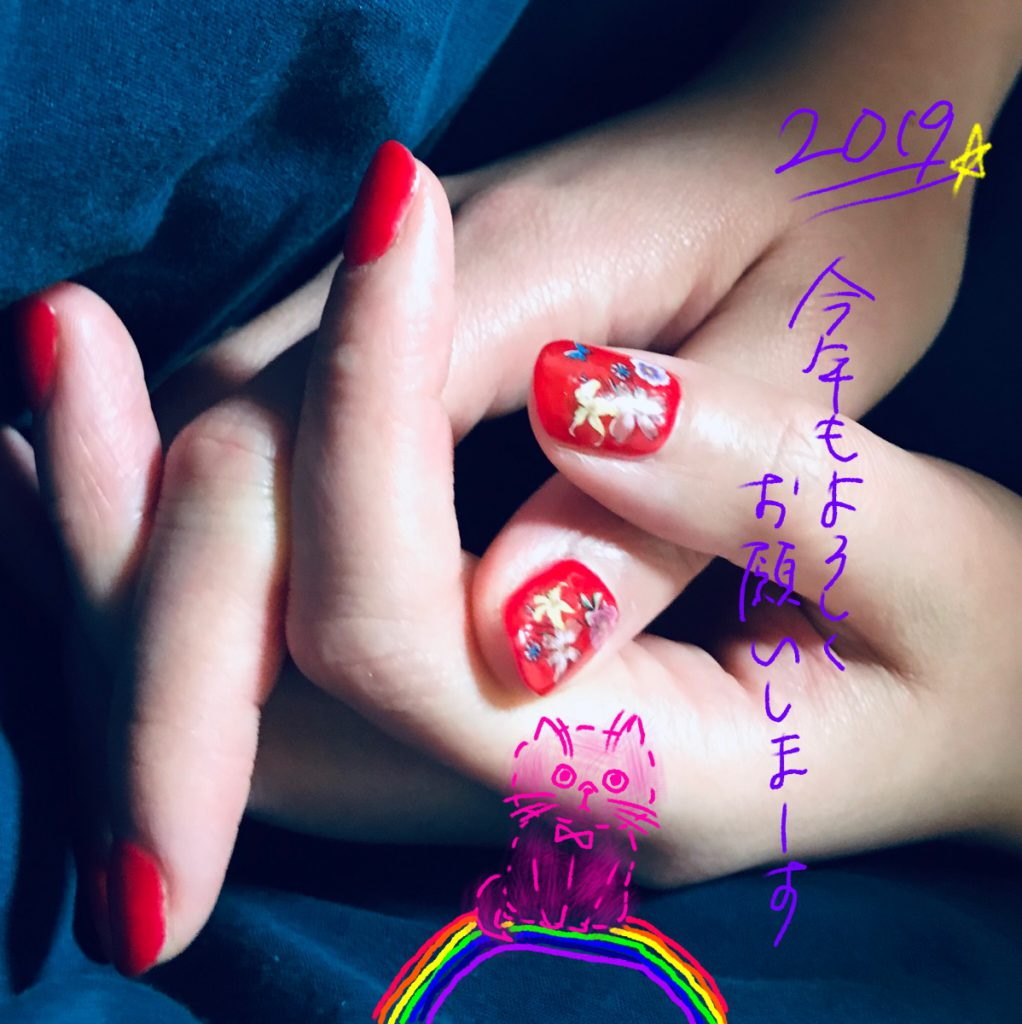 newyear2019-nail-red