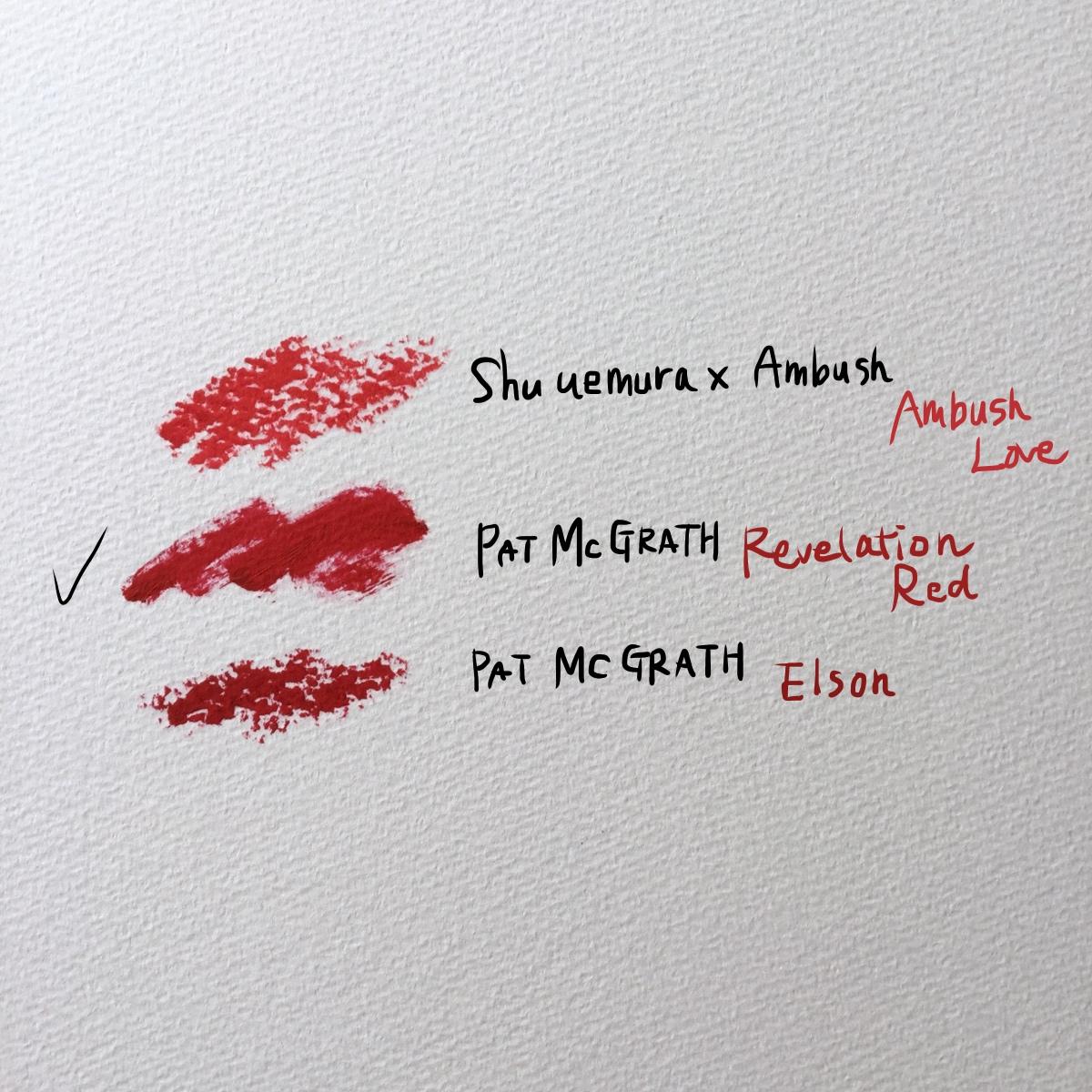 best red lipstick swatches